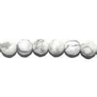 Perle en Howlite facettée boule 6 mm
