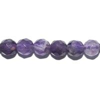 Perle en Améthyste facettée boule 6 mm - Lot de 10 pièces