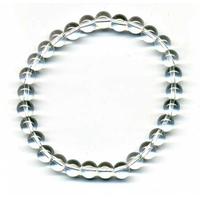 Bracelet en cristal de roche boules 6mm