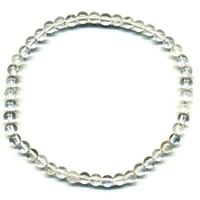 Bracelet en cristal de roche boules 4 mm EXTRA