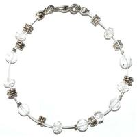 Bracelet steel clarté et prévenance en cristal de roche