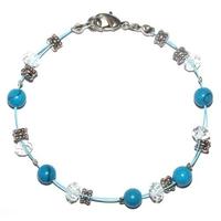 Bracelet steel sérénité et relaxation en howlite turquoise