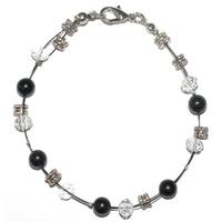 Bracelet steel assurance et responsabilité en onyx