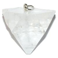 Pendentif Apophyllite blanche cristal brute Extra