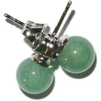 Boucles d'oreilles boule 6mm aventurine