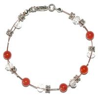 Bracelet steel courage et idéalisme en cornaline