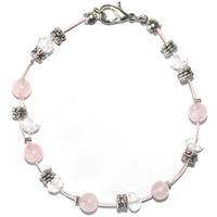 Bracelet steel empathie et amour en quartz rose