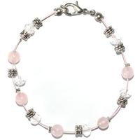Bracelet steel empathie et amour en quartz rose
