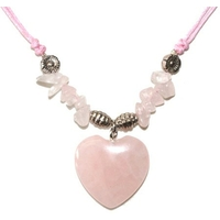 Collier quartz rose coeur empathie et amour