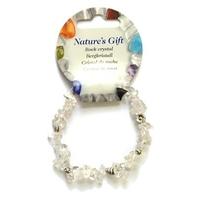 Bracelet baroque clarté et prévenance en cristal de roche