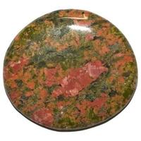 Mini pierre plate en Unakite