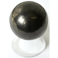Boule de massage en Shungite  3,5 cm avec  support plexi