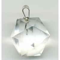 Pendentif Icosaèdre Cristal de roche