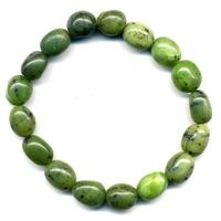 Bracelet pierres roulées en jade néphrite