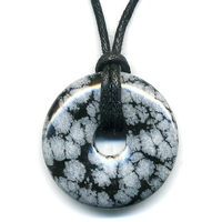 Pi-chinois Obsidienne neige 30mm