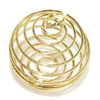 Spirale en métal doré 15 mm