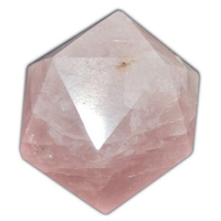 Icosaèdre Quartz rose 20 à 25 mm