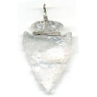 Pendentif Cristal de Roche en flèche