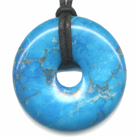 Pi-chinois Howlite turquoise 40mm