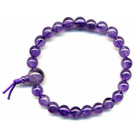 Amethyste en Mala tibétain avec 24 graines  Power Bracelet 6 mm