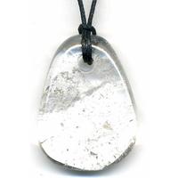 Pendentif Cristal de roche avec cordon Flash