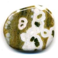 Mini pierre plate en Jaspe océan
