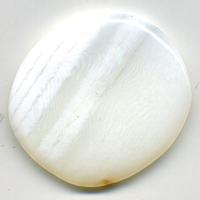 Mini pierre plate en Opale blanche