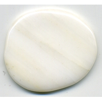 Mini pierre plate en Jade blanc