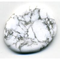 Mini pierre plate en Howlite