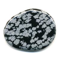 Mini pierre plate en Obsidienne neige