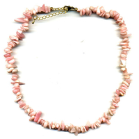 Collier Opale rose 45 cm baroque