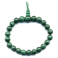 Mala tibétain 21 graines Power Bracelet Malachite boule 8 mm