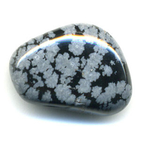 Obsidienne neige de 25 à 30 mm - Lot de 3