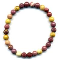 Bracelet en mokaite boules 6mm