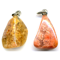 Pendentif Agate mousse orange Extra
