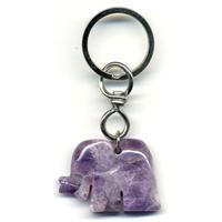 Porte clefs Elephant en Améthyste