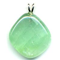 Pendentif Calcite verte EXTRA avec Bélière argent