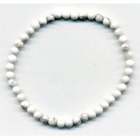 Bracelet en Howlite boules 4mm