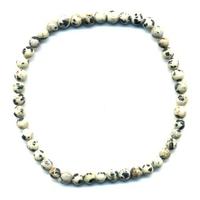 Bracelet en jaspe dalmatien boules 4mm