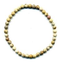 Bracelet en Jaspe paysage boules 4mm