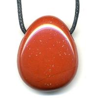 Pendentif Jaspe rouge avec cordon