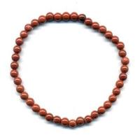 Bracelet en jaspe rouge boules 4mm