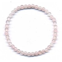 Bracelet en quartz rose boules 4mm