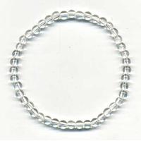 Bracelet en cristal de roche boules 4mm