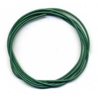 Cordon cuir Vert foncé