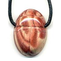 Collier Jaspe rouge Scarabée