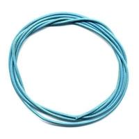 Cordon cuir Bleu Turquoise