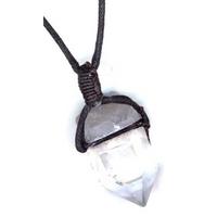Collier Cristal de roche cristal brute