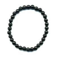 Bracelet en Tourmaline noire boules 6mm
