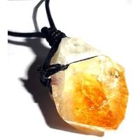 Collier Citrine cristal brute